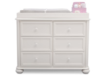 Simmons Kids® Peyton 6 Drawer Dresser, Bianca