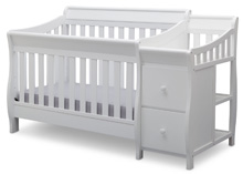 Delta Children Bentley S Crib n Changer in White