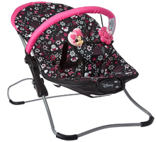 Disney Snug Fit Folding Bouncer, Minnie Pop
