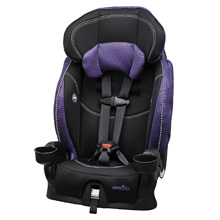 Evenflo Chase LX Booster Car Seat, Jasmin