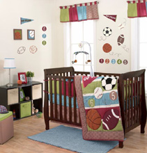 Belle Sports Star 3 Piece Crib Bedding