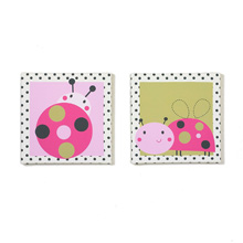 Belle Lil Ladybug 2 Piece Canvas Wall Art