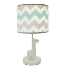 The Peanut Shell Uptown Giraffe Lamp with Shade