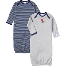 Gerber Boys 2-pack Gowns, Sports 0-6 Months