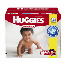 Huggies Snug and Dry Step 3 Diapers, 240 Count