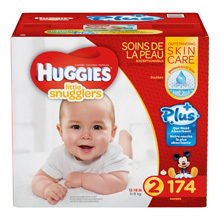 Huggies® Little Snugglers Plus Diapers Size 2, 174 Count