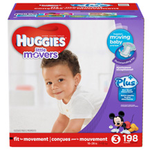 Huggies® Little Movers Plus Diapers Size 4, 198 Count