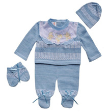 Karela Knit Baby Set-Blue