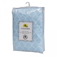 Kidiway 100% Cotton Fitted Crib Sheet, Quatro Foil Blue