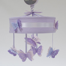 Lambs & Ivy Signature French Lavender Musical Mobile