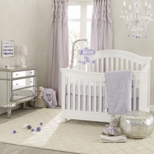 Lambs & Ivy Signature French Lavender 5 Piece Crib Bedding Set