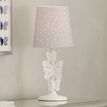Lambs & Ivy Signature French Lavender Lamp with Shade