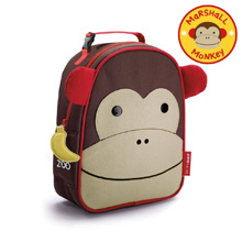 Skip Hop Zoo Lunchie Insulated Kids Lunch Bag, Monkey