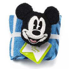 Disney Baby Washcloth Set and Bath Toy, Blue/White Mickey Mouse (3 Pack)