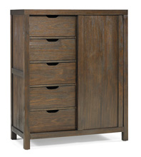 Ti Amo Castello Chifforobe  Wire Brushed Brown