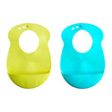 Tommee Tippee Explora Easi Roll Bib, Blue and Green 2 PK