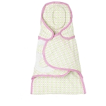 Just Born Swaddle Wrap Pink & Green Geometric
