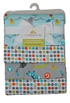 Cuddle Time 4-Pack Neutral Animal Alphabet Flannel Receiving Blankets