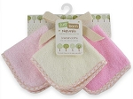 Just Born 3 PK Organic Washcloths Pink