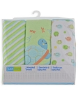 Just Born 3 Piece Knit Hooded Towel - Turtle Neutral