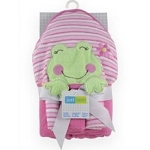 Just Born Towel & Washclothes Frog