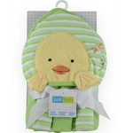 Just Born Towel & Washclothes Duck