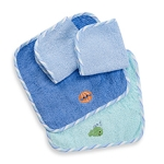 Just Born Washcloth Set Nautical (Boy)