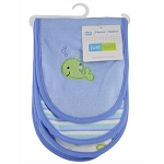 Just Born Knit Terry Burp Cloths 3PK Boy