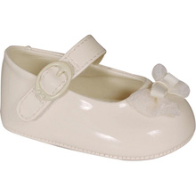 Baby Deer Infant Girls Ivory Patent Skimmer