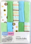 Triboro 10 Pack Neutral Sage Washcloths by Just Born