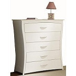 Pali Trieste 5 Drawer Chest in White