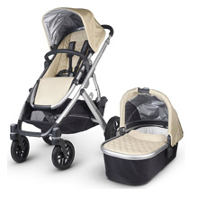 Uppababy Vista 2015 Stroller - Lindsey (Wheat/Silver)
