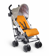 Uppababy G-Luxe Stroller - Ani (Orange/Silver)