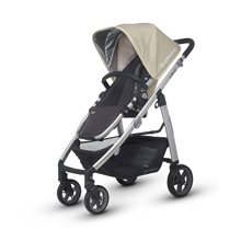 Uppababy Cruz Stroller - Lindsey (Wheat/Silver)