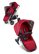 Uppababy Vista RumbleSeat - Denny (Red/Silver)