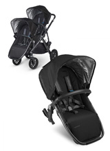 Uppababy Vista RumbleSeat - Jake (Black/Carbon)