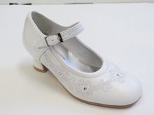Rachel Aria Mini Pump Shoe in White Patent