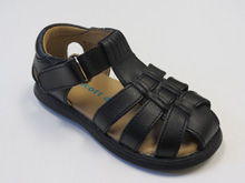 Rachel Sailor Leather Sandal in Black