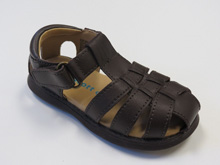 Rachel Sailor Leather Sandal in Brown