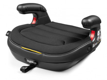 Peg Perego Viaggio Shuttle Backless Booster Seat Licorice-Black Eco Leather