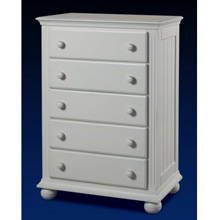 Sorelle Vista 5 Drawer Dresser in French White