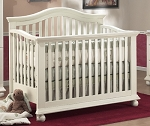 Sorelle Vista Convertible Crib with Mini Rail in French White