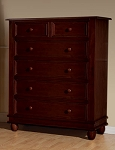 Pali Wendy 5 Drawer Dresser in Chocolate