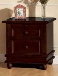 Pali Wendy Nightstand in Chocolate