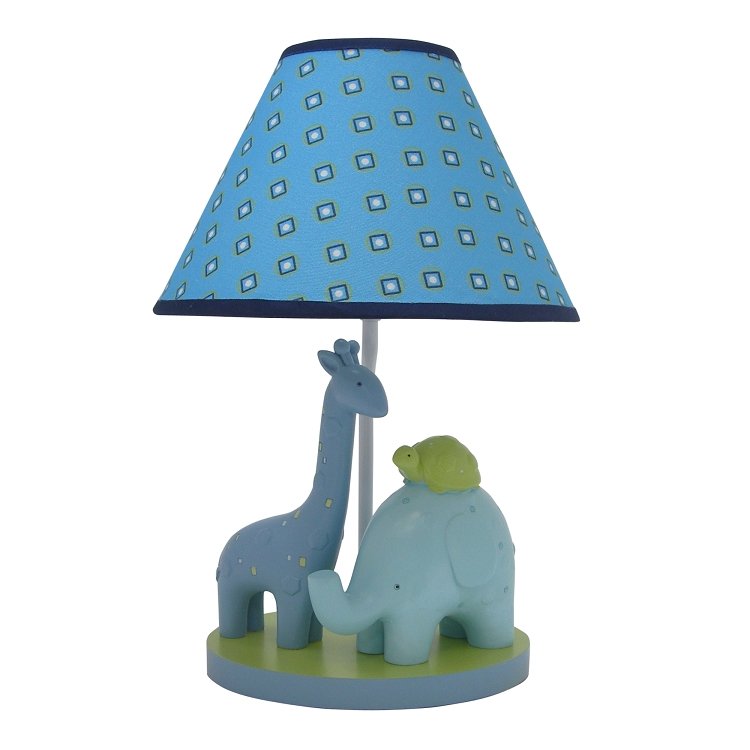 zootopia lamp base shade boys nursery decor giraffe elephant turtle. Black Bedroom Furniture Sets. Home Design Ideas