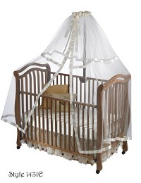 Heirloom Crib Net with Decorative Ribbon