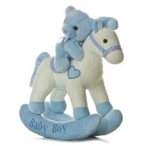 Aurora Rocking Horse Musical Stuff Animal  Boy
