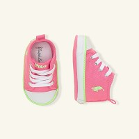 Ralph Lauren Layette Harbour Hi Top Sneaker Pink