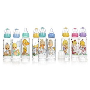 Nuby Precious Moments� Feeding Bottles 8 oz,  3 PK