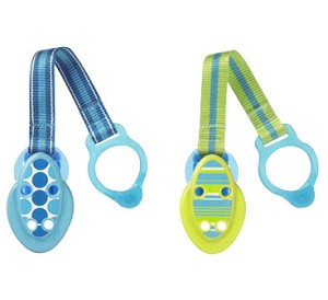 Tommee Tippee Closer to Nature� Green/Blue Pacifier Holder 2pk BPA Free 0m+ Boy